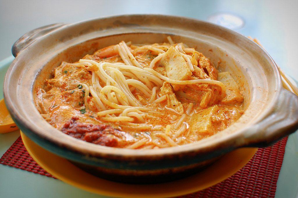 Delicious claypot laksa